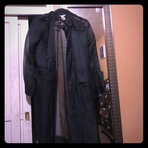 Bcbg long sheer coat